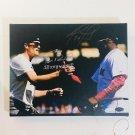 Tom Brady & David Ortiz Autographed RP 11x14 Canvas Print Wall Art