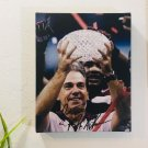 Nick Saban Alabama Crimson Tide Autographed RP 8x10 Canvas Print Wall Art