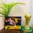 Neymar & Lionel Messi Autographed RP 11x14 Canvas Print Soccer Memorabilia