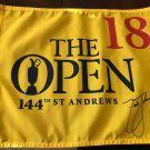 Zach Johnson Autographed 2015 British Open Playoff Pin Flag