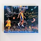 Kobe Bryant & Shaquille O'Neal Autographed RP 11x14 Canvas Print Wall Art