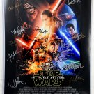 Star Wars The Force Awakens Cast Signed 16x20 Photograph - Clearance