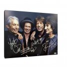 Rolling Stones Autographed RP 11x14 Canvas Print Wall Art
