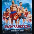 Baywatch (2017) Cast Autographed 11x14 Photograph