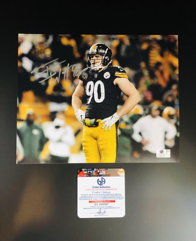 T.J. Watt Pittsburgh Steelers Autographed 8x10 Celebrating Photograph