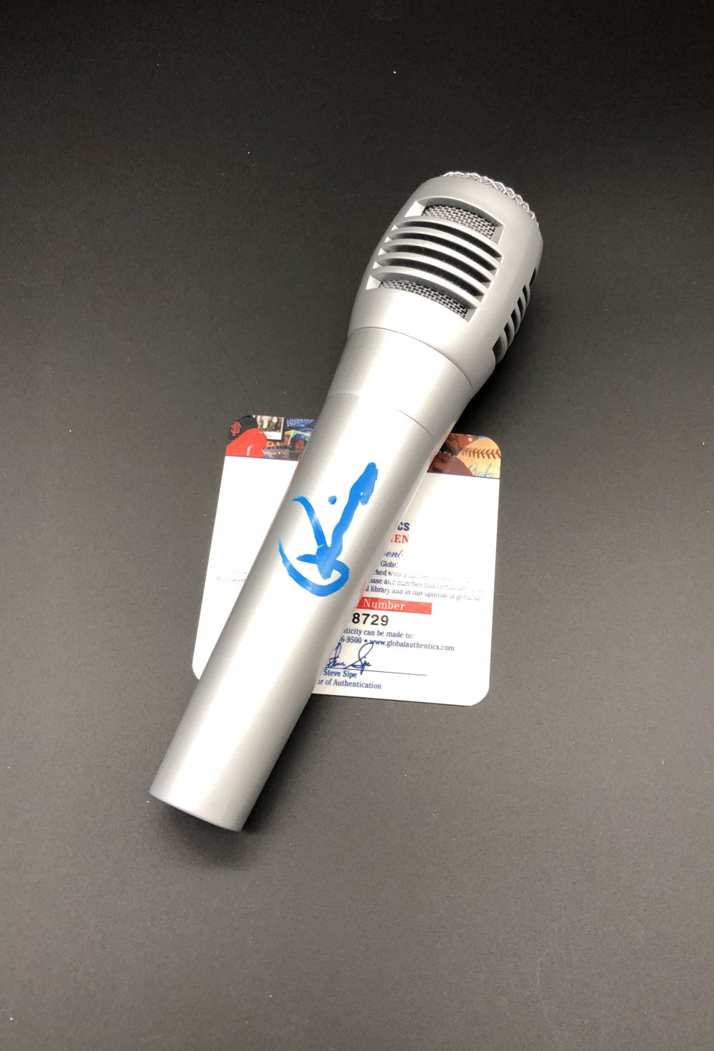 Rivers Cuomo Weezer Autographed Entertainment Microphone