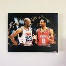 Kobe Bryant & Michael Jordan Facsimile Autograph 11x14 Canvas Print Wall Art