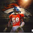 Von Miller Denver Broncos Autographed 8x10 Logo Photograph