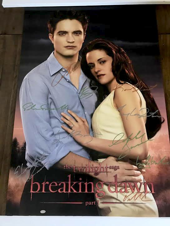 The Twilight Saga: Breaking Dawn Part 1 Cast Autographed Theatrical Poster (Unframed)