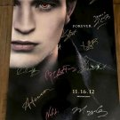 The Twilight Saga: 11-16-12 Forever Cast Autographed Theatrical Poster (Unframed)