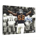 Khalil Mack Chicago Bears Facsimile Autograph 11x14 Canvas Print Wall Art