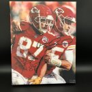 Patrick Mahomes & Travis Kelce Kansas City Chiefs Facsimile Autograph 11x14 Canvas Print Wall Art