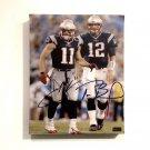 Tom Brady & Julian Edelman Facsimile Autograph 11x14 Canvas Print