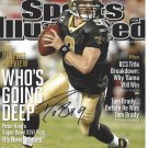 Drew Brees New Orleans Saints Autographed 8x10 SI Cover Photograph w/ free frame