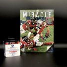 Julian Edelman New England Patriots Autographed 8x10 SI MIRACLE Cover Photo w/ free frame