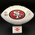 George Kittle & Jimmy Garoppolo Autographed San Francisco 49ers Logo Football