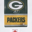 Aaron Rodgers Autographed 8x11 Green Bay Packers Metal Sign