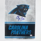 Christian McCaffrey Autographed 8x11 Carolina Panthers Metal Sign