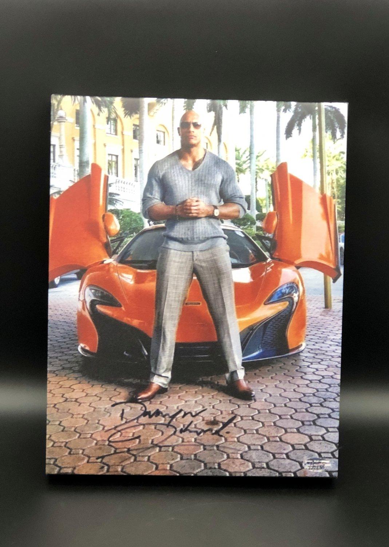 "Dwayne Johnson ""The Rock"" Facsimile Autograph 11x14 Canvas Print Wall Art"