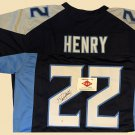 Derrick Henry Tennessee Titans Autographed Football Jersey