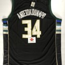 Giannis Antetokounmpo Milwaukee Bucks Autographed Basketball Jersey