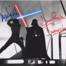 Mark Hamill & Dave Prowse Darth Vader Star Wars Autographed 8x10 Photograph