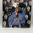 Def Leppard Band Autographed Record Album Cover