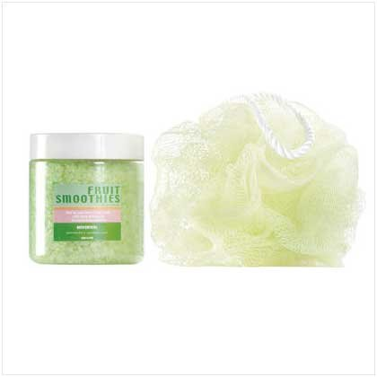 Green Bath Crystal Scrub Set
