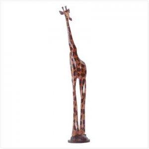 Hand-Painted Giraffe Sculpture