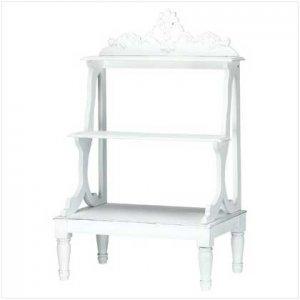 Distressed White Mini Shelves