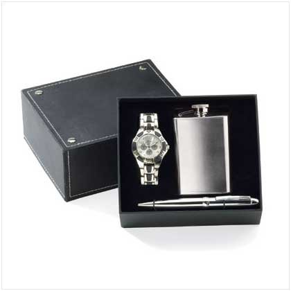 Man's Gift Box with Flask