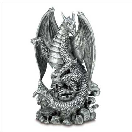 Fierce Black Dragon Figurine