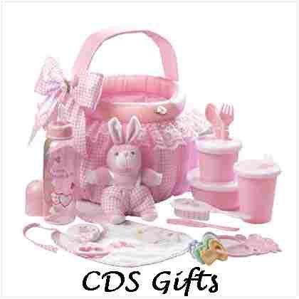 Baby Soft Gift Basket Set in Pink