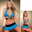 New Sexy Lingerie Babydoll Corset Bustier Hot Blue Mini Dress 25