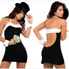 New Sexy Lingerie Babydoll Hot Lace black Dress G-String 54