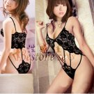 New Sexy Lingerie Babydoll Hot Lace black Dress G-String 56