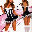 New Sexy Lingerie Babydoll Hot Lace black Dress G-String 61