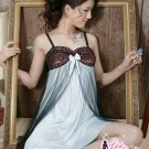 New Sexy Lingerie Babydoll Hot Lace blue Dress G-String 84