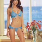 New Sexy Lingerie Babydoll corset bustier Hot Lace blue Dress G-String 99