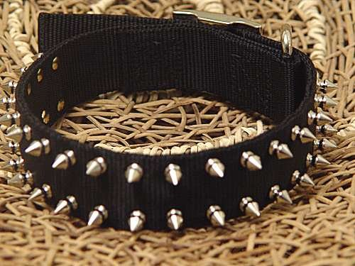 Heavy Duty Nylon Spiked Dog Collar