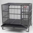 Steel Cage with Locking Casters
