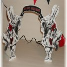White Rabbit  Tabletop Centerpiece
