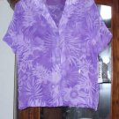 NWT PURPLE SHEER GRAFF BLOUSE M