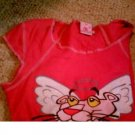 ladies pink panter top L