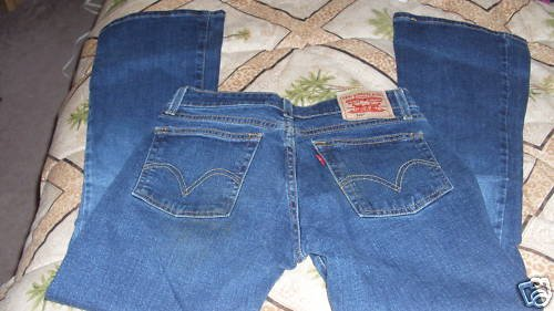 LADIES DARK BLUE SUPERLOW BOOT CUT 518 LEVIS 5JR S
