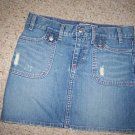 LADIES DESTROYED ULTRA LOW WAIST OLD NAVY SKIRT 0 &1