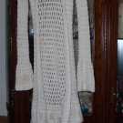 3 DIVIDED OFF WHITE,PINK ,BLACK CROCHET LONG SWEATERS 4