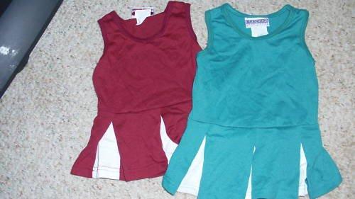TODDLER GIRLS CHEERLEADER DRESSES BY BRANDON SPORTS NWO