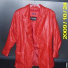 LADIES RED WILSONS THINSULATE LEATHER COAT M