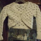 Nwot american eagle crochet half sweater size s/p